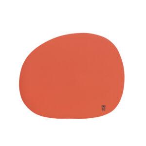 RAW Organic dækkeserviet silikone - Terracotta 41 x 33,5 cm. 4 Stk.