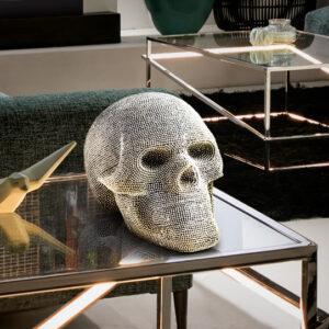 Sølv skulptur - Skelethoved