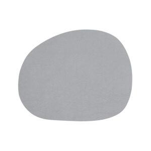 RAW buffalo dækkeserviet 95% genbrugslæder - Lysegrå 41 x 33,5 cm. 4 Stk.