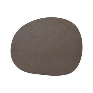 RAW buffalo dækkeserviet 95% genbrugslæder - Clay 41 x 33,5 cm. 4 Stk.