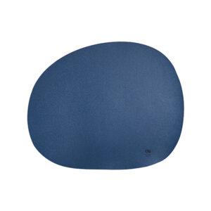 RAW Organic dækkeserviet silikone - marineblå 41 x 33,5 cm. 4 Stk.