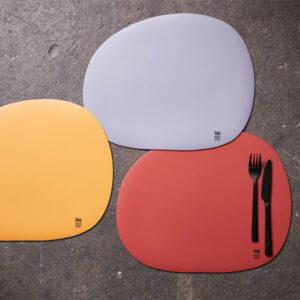 RAW Organic dækkeserviet silikone - Pumkin Yellow 41 x 33,5 cm. 4 Stk.