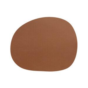 RAW buffalo dækkeserviet 95% genbrugslæder - Cinnamon Brown 41 x 33,5 cm. 4 Stk.