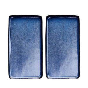 Aida Raw Midnight Blue - Rektangulær Fadsæt 34 cm 2 stk