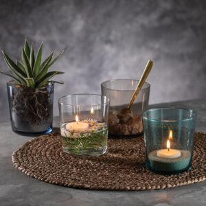 Aida RAW Glas smoke - Vandglas 37 cl 4 stk sleeve pakning