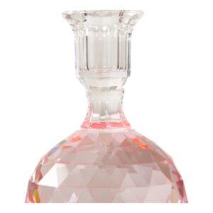 C'est Bon - Krystal kuglestage m/graveringer, pink, 16,5xø10cm