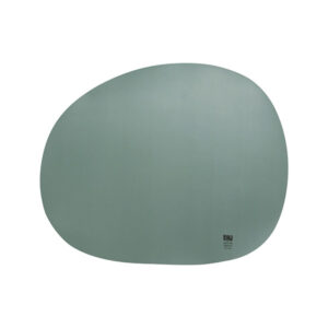 RAW Organic dækkeserviet silikone - Grøn 41 x 33,5 cm. 4 Stk.